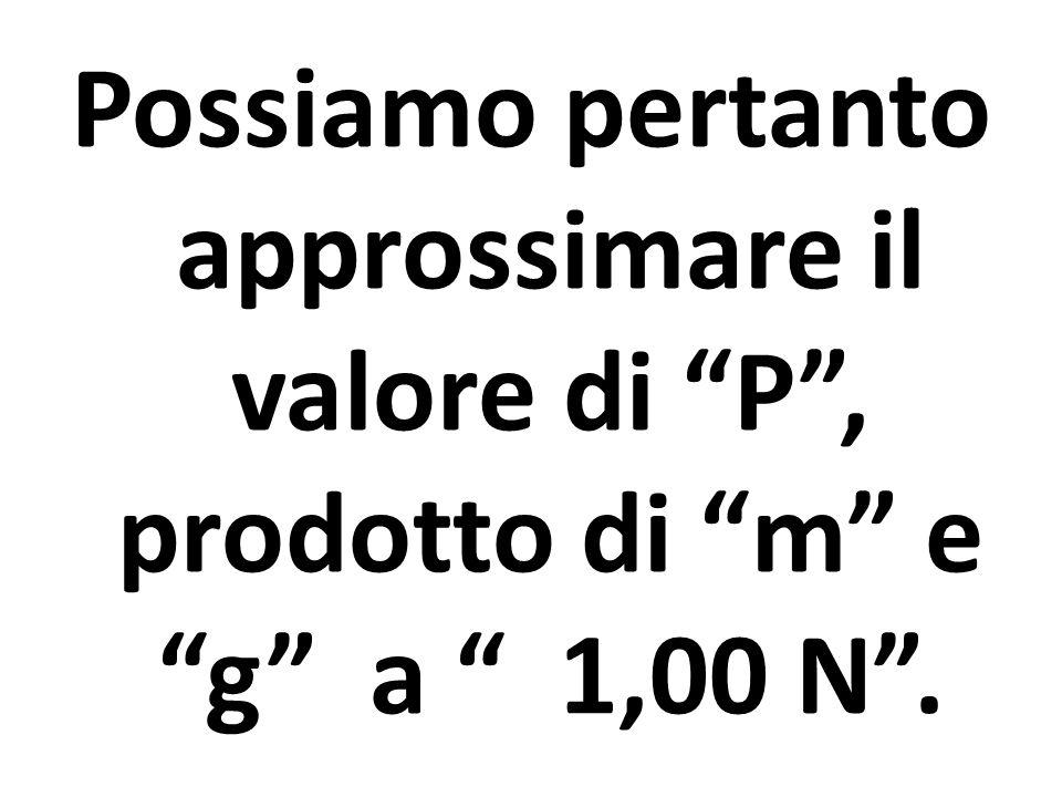 Possiamo pertanto approssimare il valore di P , prodotto di m e g a 1,00 N .