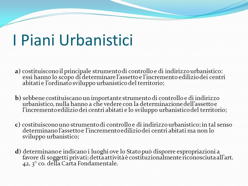 I Piani Urbanistici