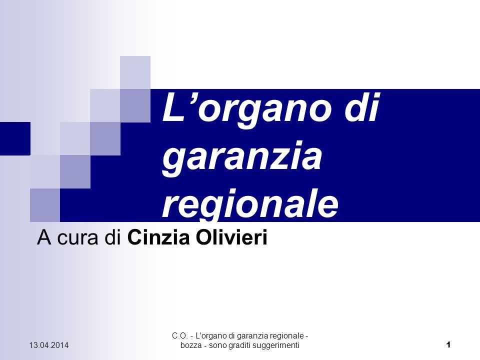 L'organo di garanzia regionale
