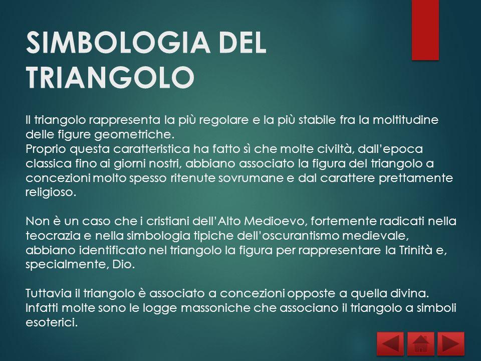 SIMBOLOGIA DEL TRIANGOLO