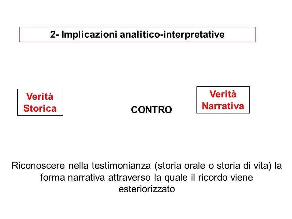 2- Implicazioni analitico-interpretative