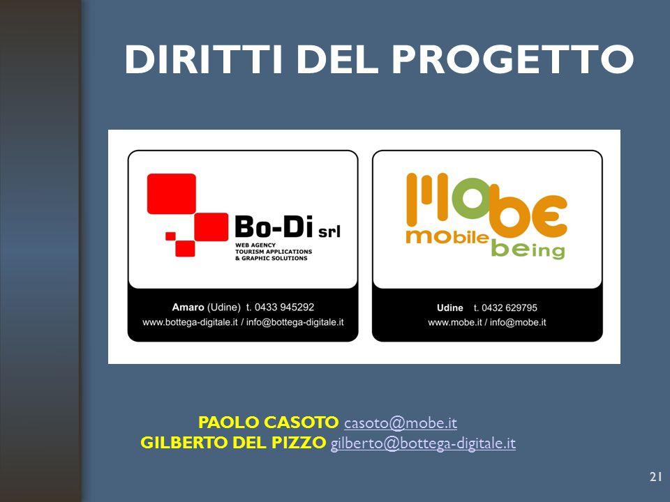 DIRITTI DEL PROGETTO PAOLO CASOTO casoto@mobe.it