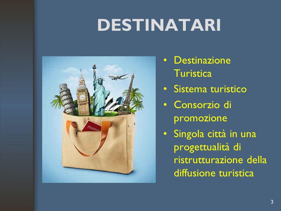 DESTINATARI Destinazione Turistica Sistema turistico