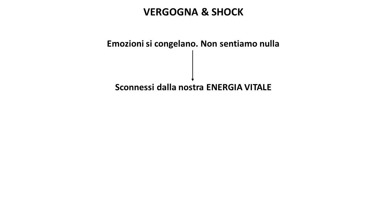 VERGOGNA & SHOCK Emozioni si congelano. Non sentiamo nulla