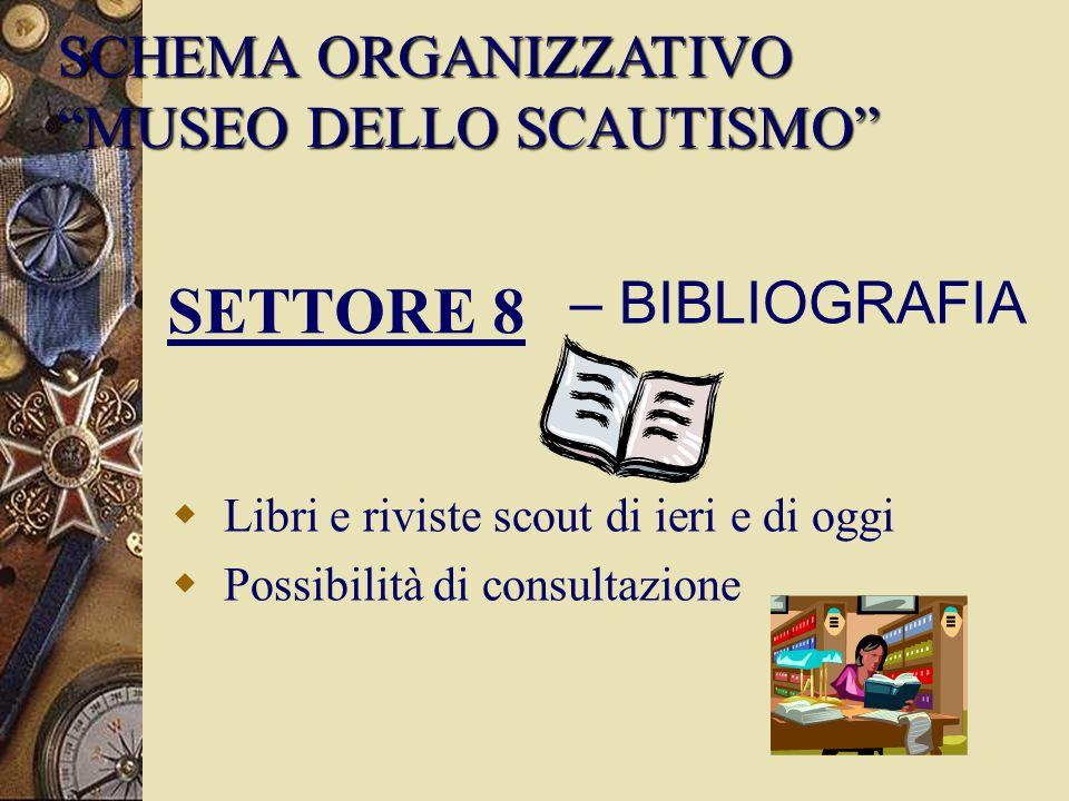 SETTORE 8 SCHEMA ORGANIZZATIVO MUSEO DELLO SCAUTISMO – BIBLIOGRAFIA