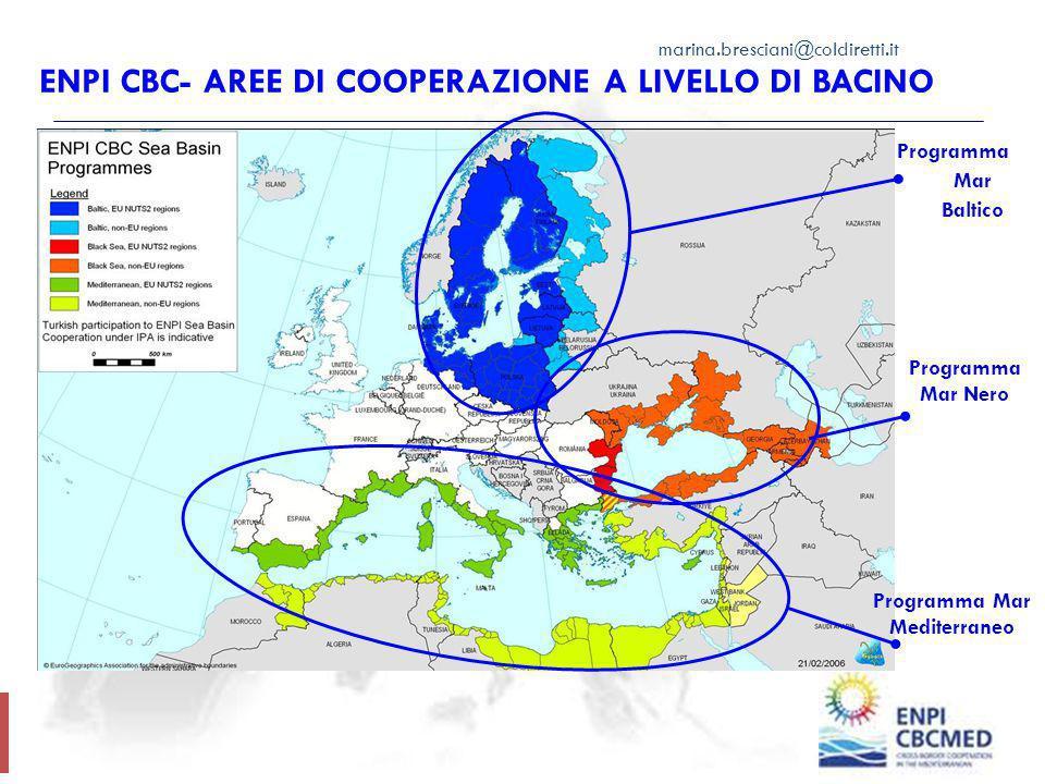ENPI CBC- Aree di Cooperazione a Livello di Bacino