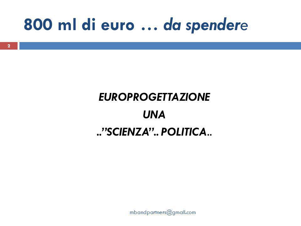 EUROPROGETTAZIONE UNA .. SCIENZA .. POLITICA..