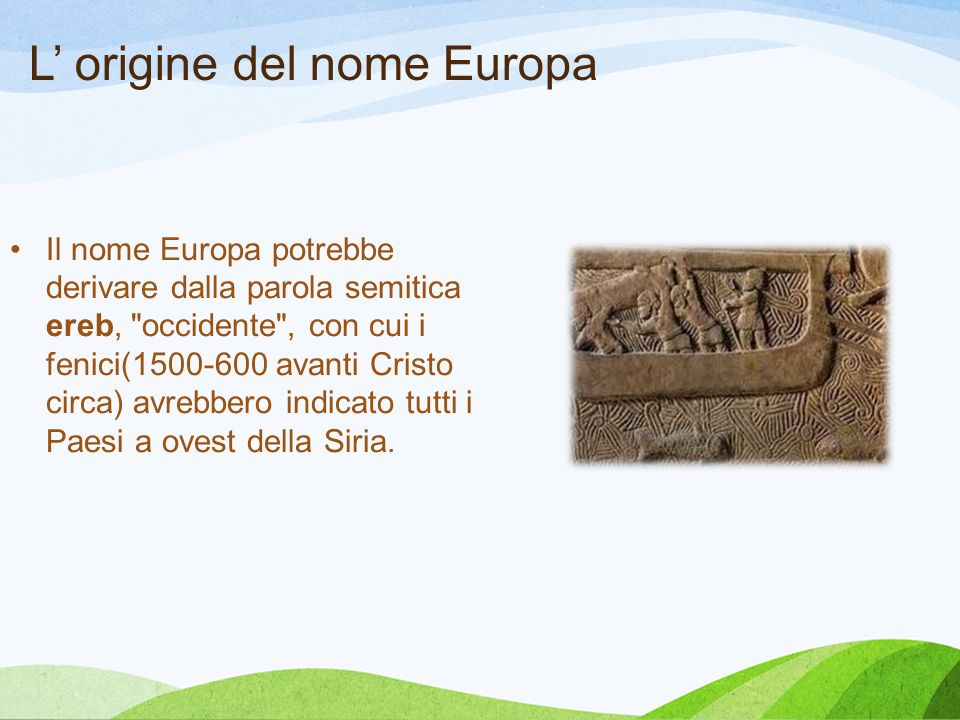 L' origine del nome Europa