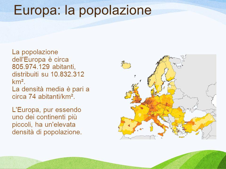 Europa: la popolazione
