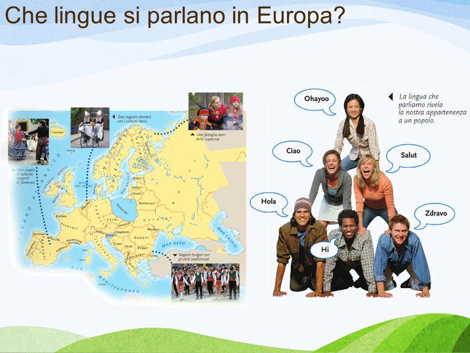 Che lingue si parlano in Europa