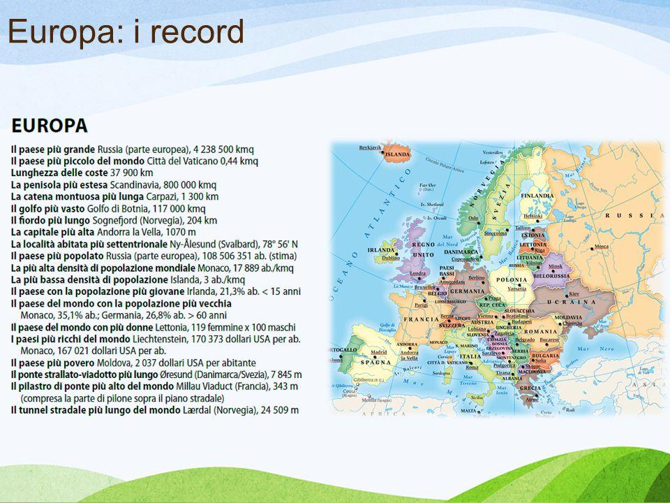Europa: i record Romano Record mondiali