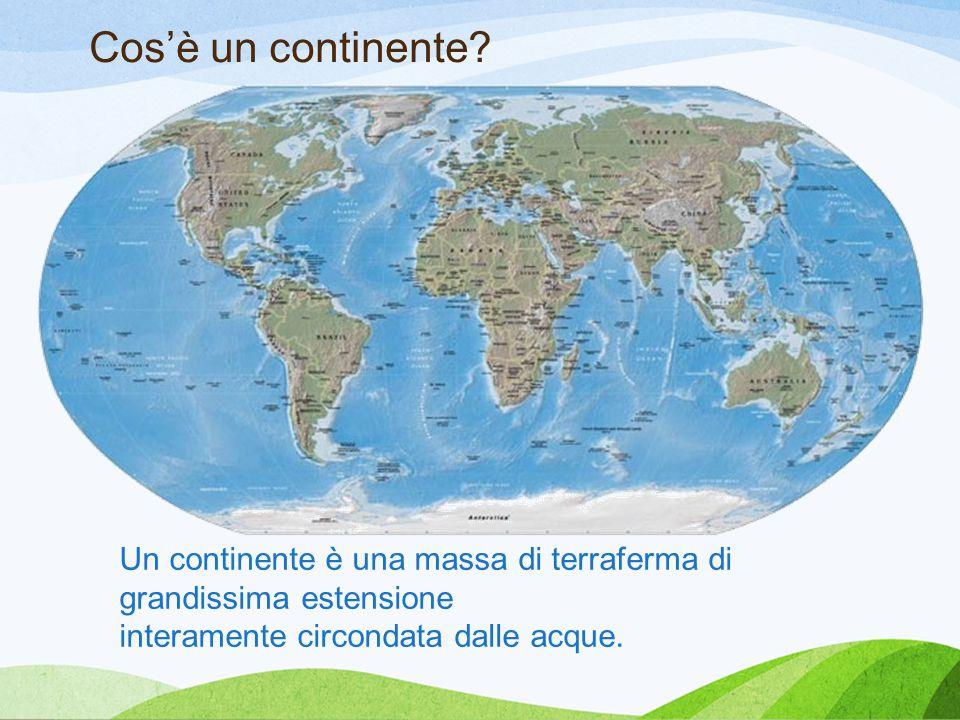 Cos'è un continente Tricarico. Spiegazione continente. Penisola Asia perché Un continente è una massa di terraferma di grandissima estensione.