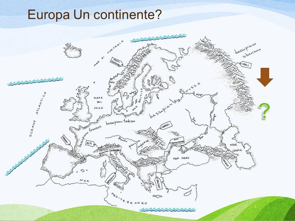 Europa Un continente Tricarico Spiegazione continente