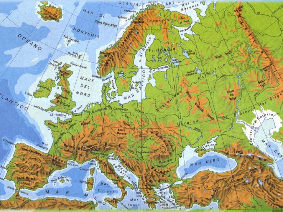 Europa il Territorio N'doy Elementi morfologici principali Territorio