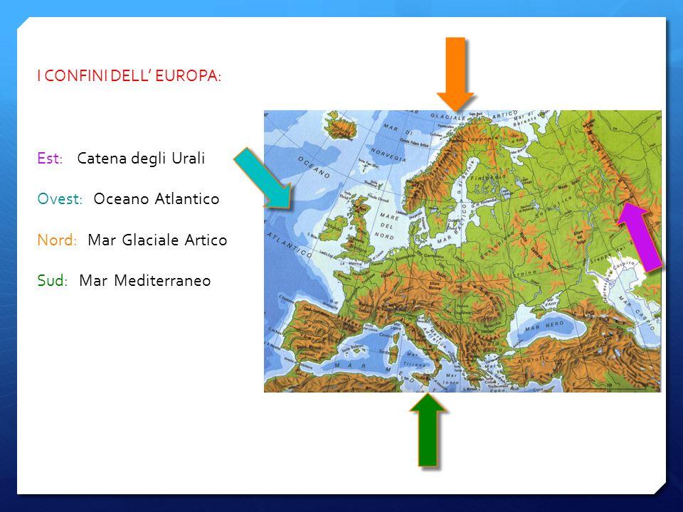 I CONFINI DELL' EUROPA: