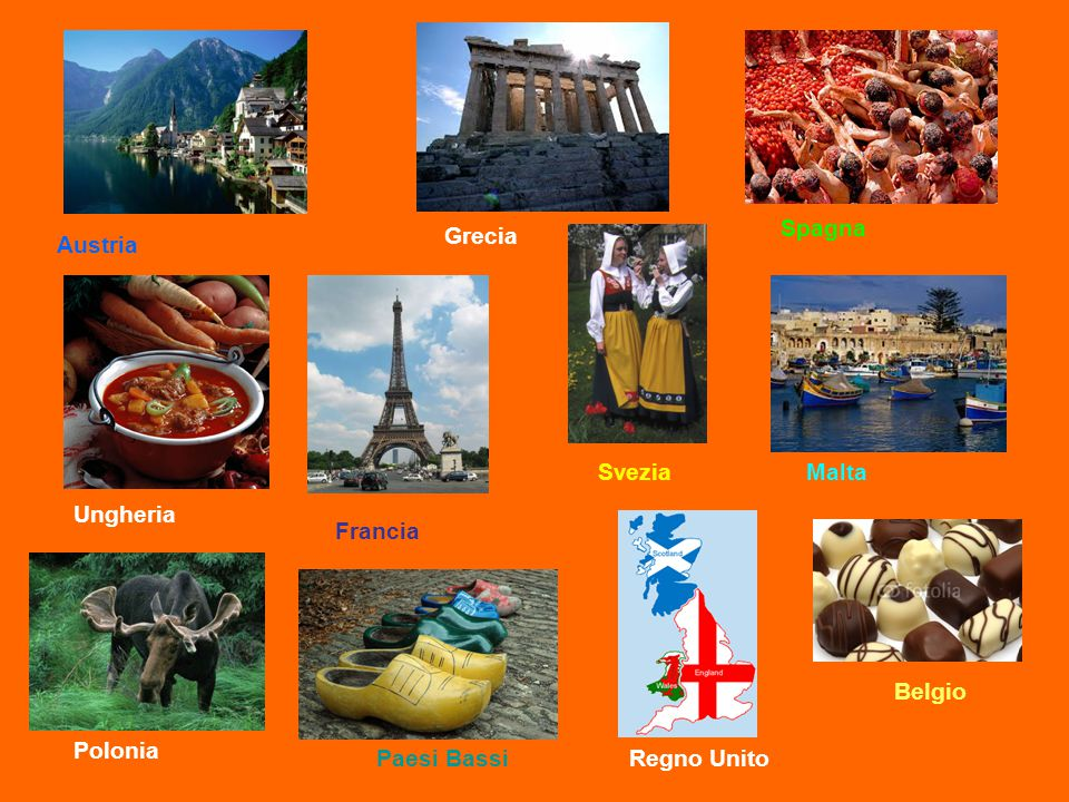 Spagna Grecia Austria Svezia Malta Ungheria Francia Belgio Polonia Paesi Bassi Regno Unito