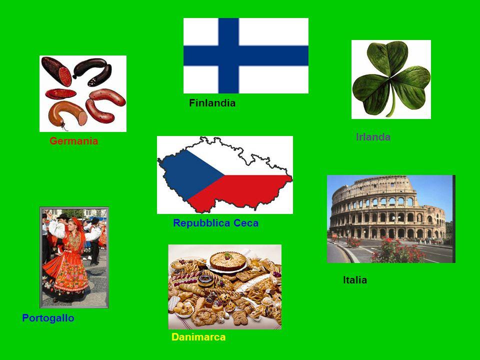 Finlandia Irlanda Germania Repubblica Ceca Italia Portogallo Danimarca