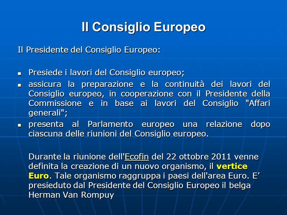 Il Consiglio Europeo Il Presidente del Consiglio Europeo: