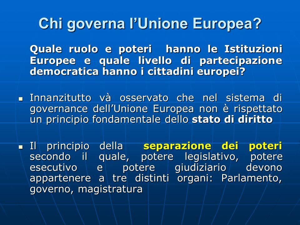 Chi governa l'Unione Europea