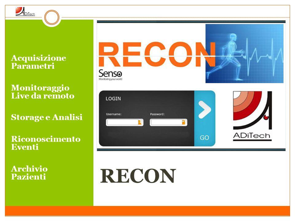RECON Acquisizione Parametri Monitoraggio Live da remoto