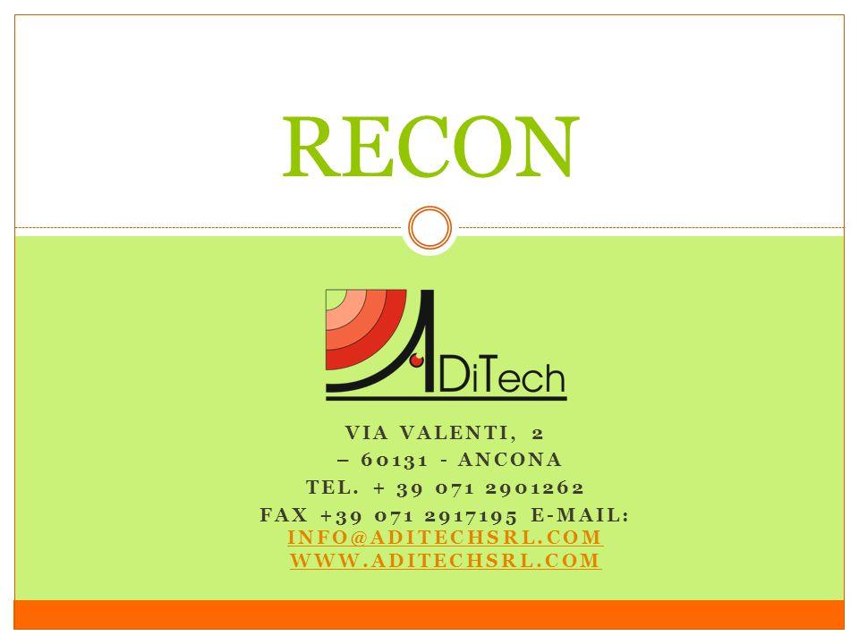 Fax +39 071 2917195 E-mail: info@aditechsrl.com www.aditechsrl.com