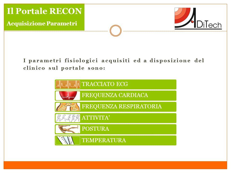 Il Portale RECON Acquisizione Parametri