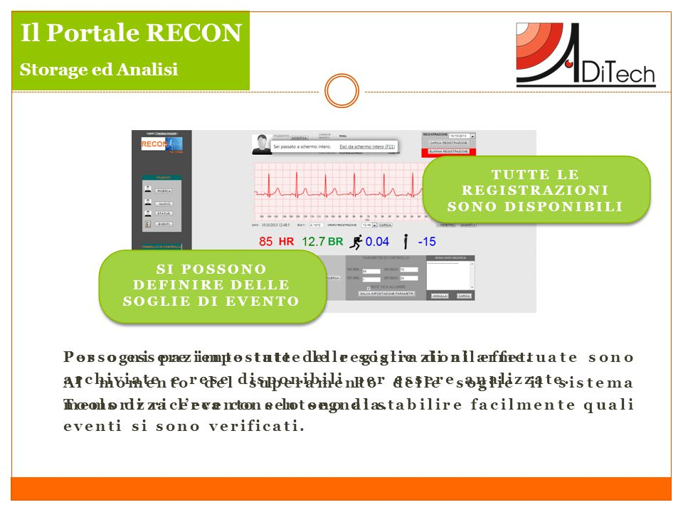 Il Portale RECON Storage ed Analisi