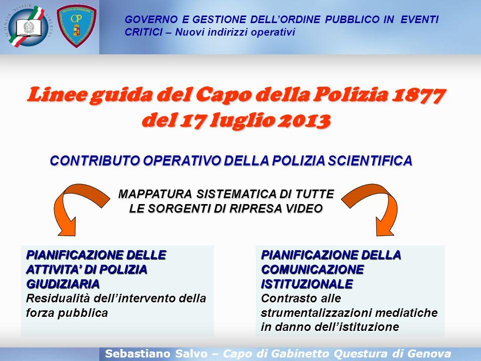 Linee guida del Capo della Polizia 1877 del 17 luglio 2013
