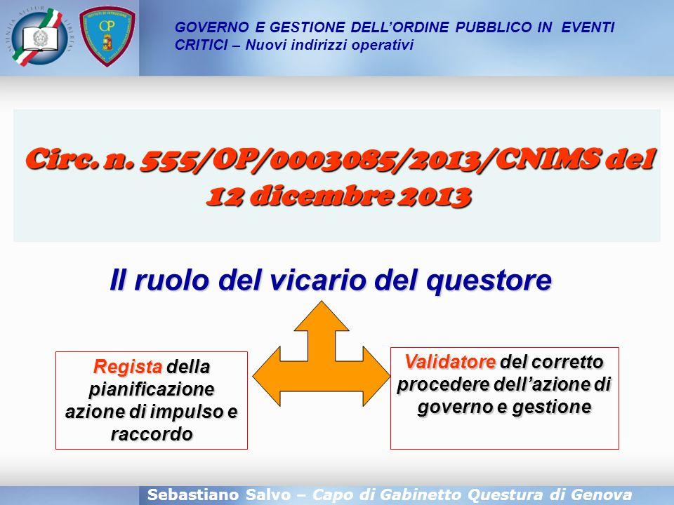 Circ. n. 555/OP/0003085/2013/CNIMS del 12 dicembre 2013