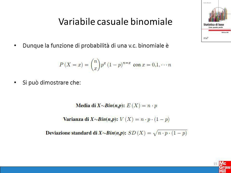 Variabile casuale binomiale