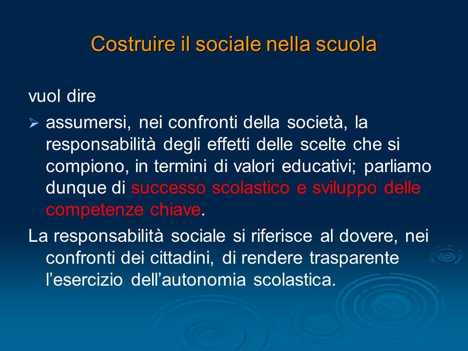 Costruire il sociale nella scuola