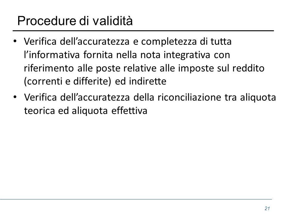 Procedure di validità