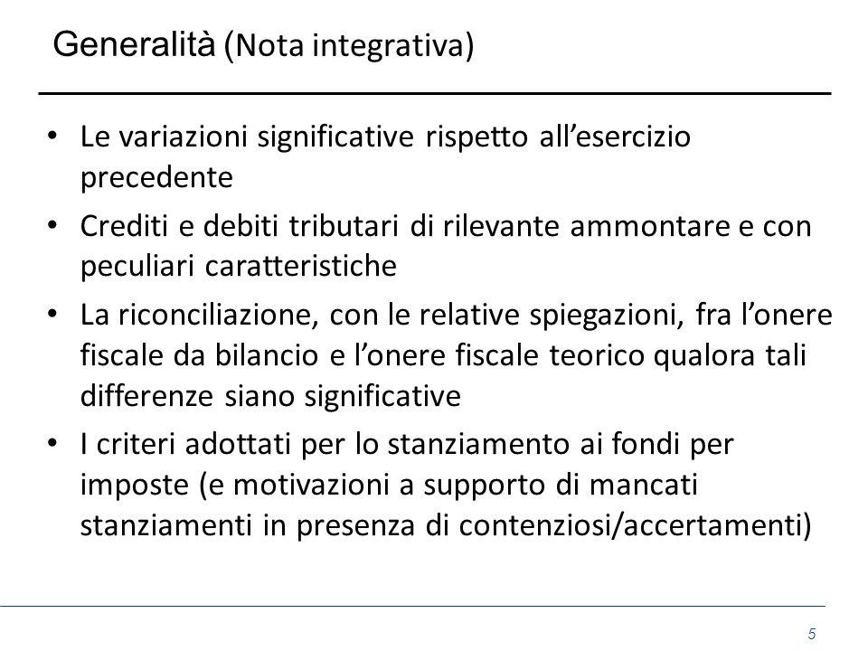Generalità (Nota integrativa)