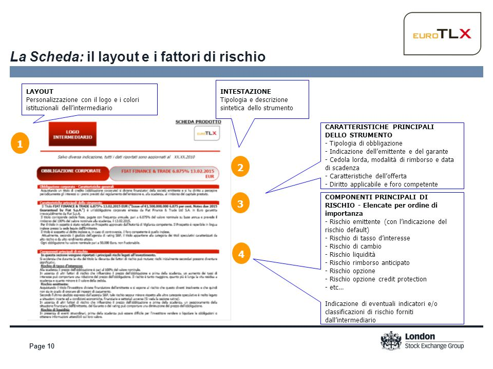 La Scheda: il layout e i fattori di rischio