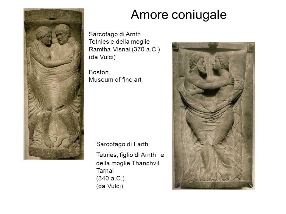 Amore coniugale Sarcofago di Arnth Tetnies e della moglie Ramtha Visnai (370 a.C.) (da Vulci) Boston,
