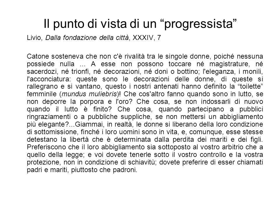 Il punto di vista di un progressista