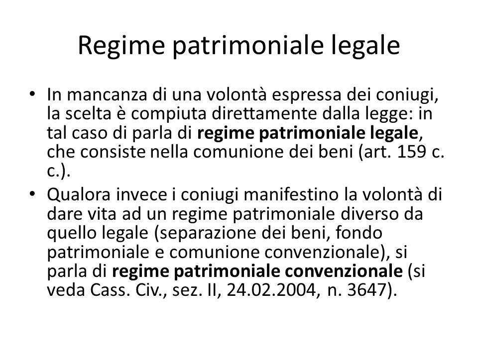 Regime patrimoniale legale