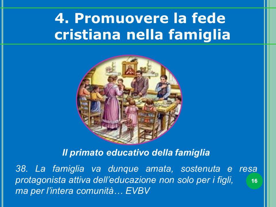 cristiana nella famiglia Il primato educativo della famiglia
