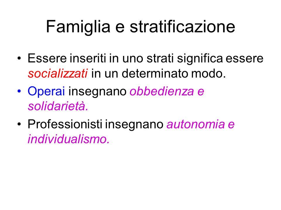 Famiglia e stratificazione