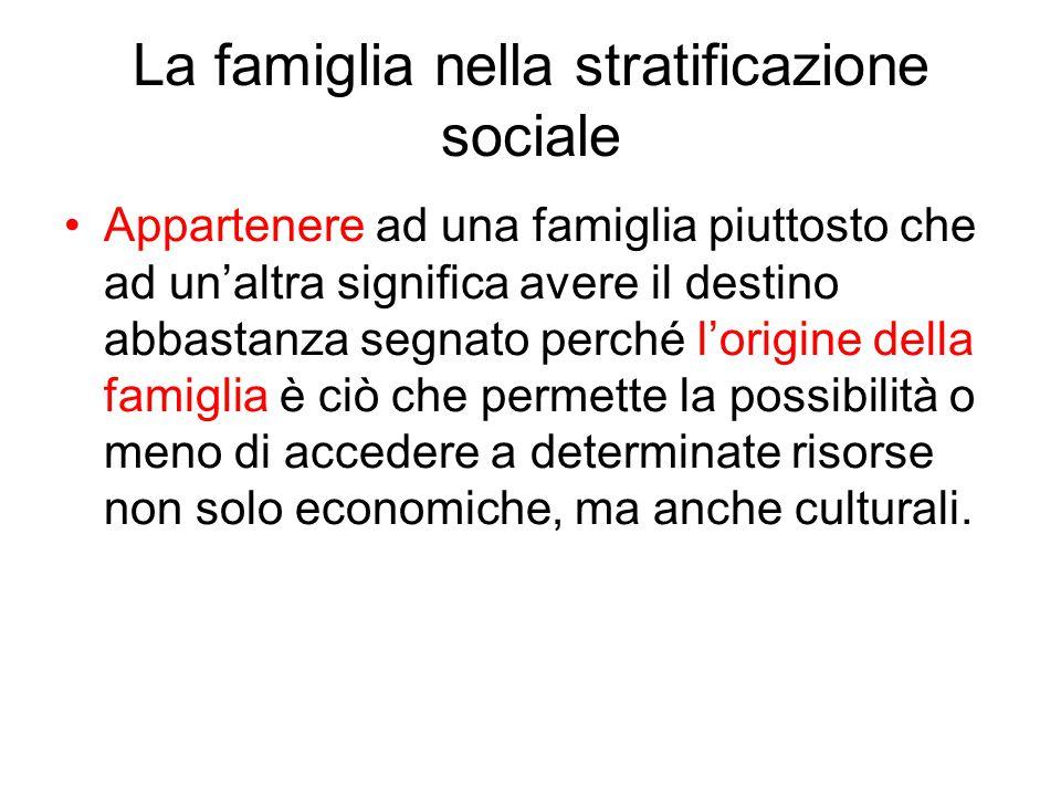 La famiglia nella stratificazione sociale