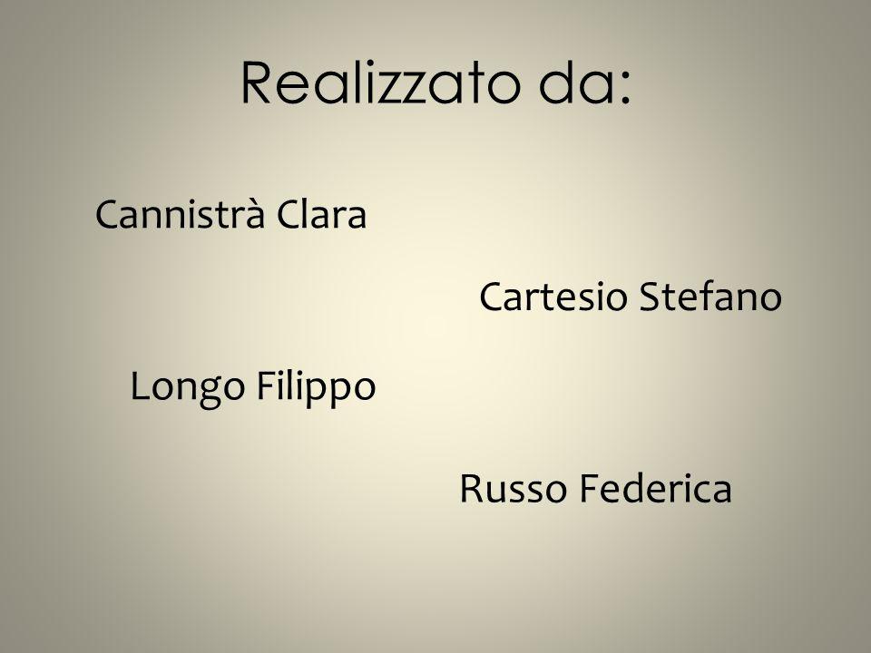 Realizzato da: Cannistrà Clara Cartesio Stefano Longo Filippo
