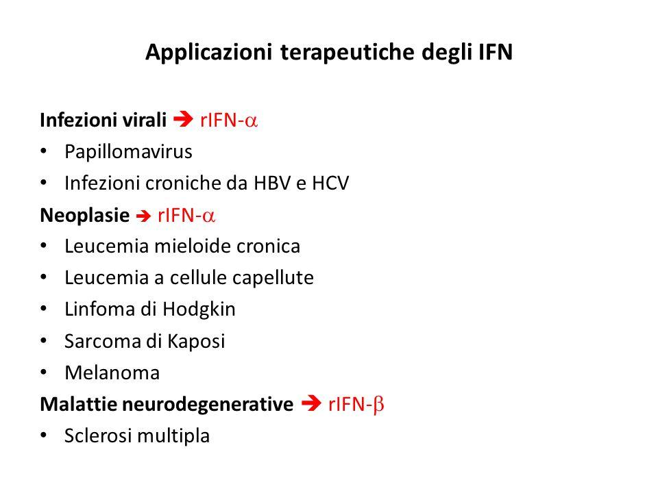 Applicazioni terapeutiche degli IFN