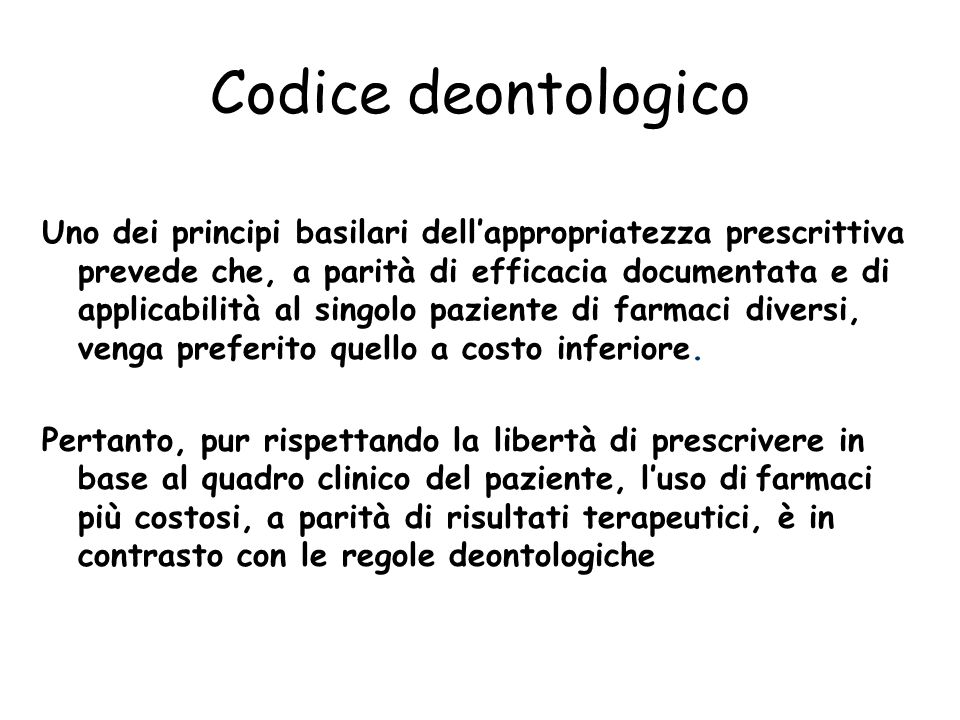 09/03/2011 Codice deontologico.