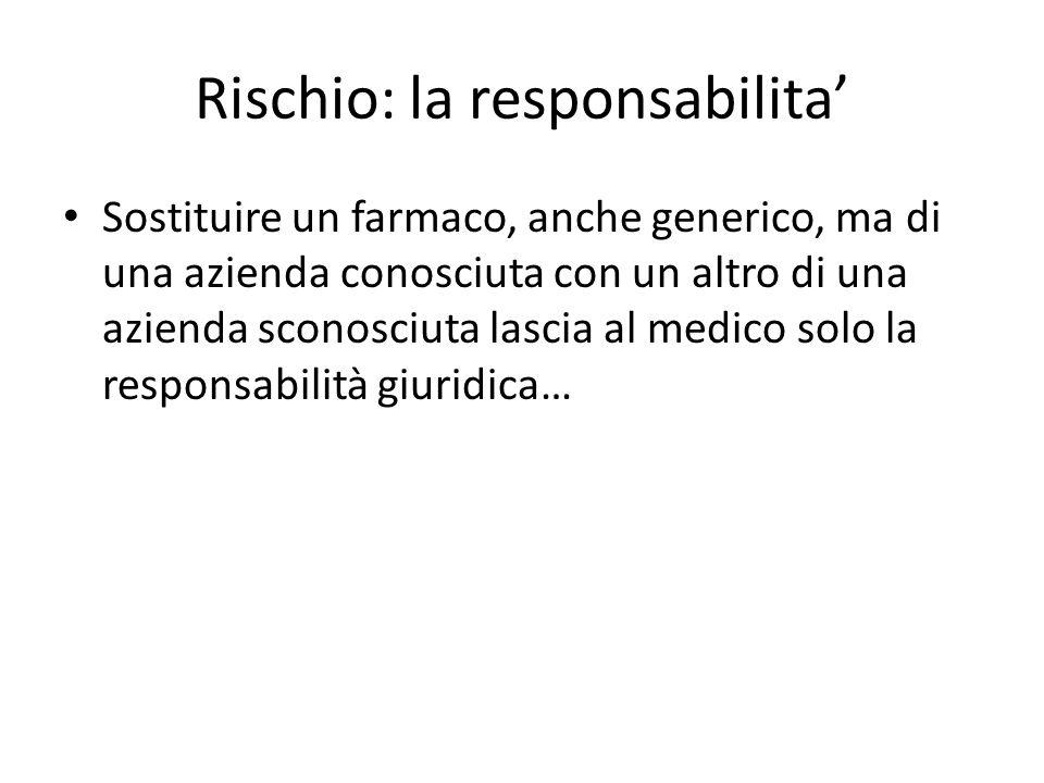 Rischio: la responsabilita'