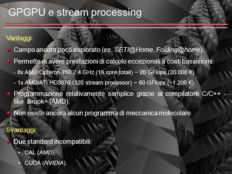 GPGPU e stream processing