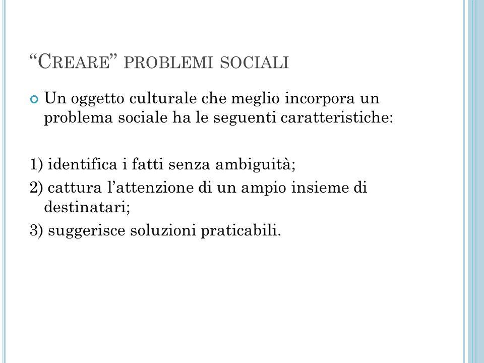 Creare problemi sociali