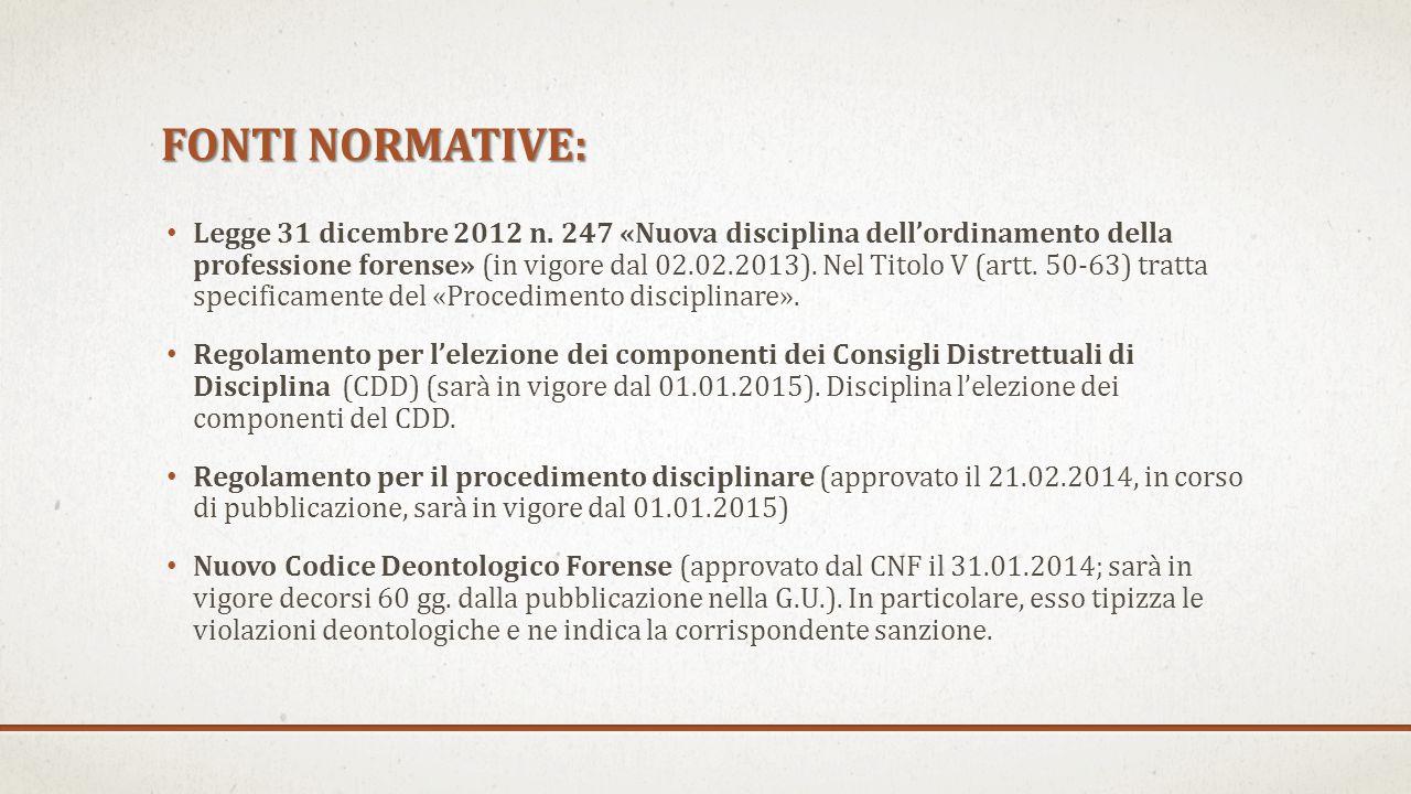 FONTI NORMATIVE: