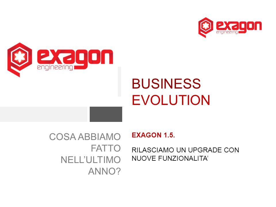 BUSINESS EVOLUTION COSA ABBIAMO FATTO NELL'ULTIMO ANNO EXAGON 1.5.