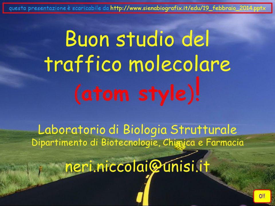 Buon studio del traffico molecolare (atom style)!