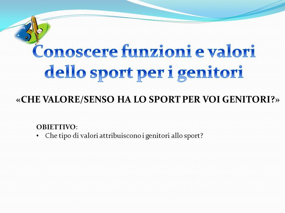 Conoscere funzioni e valori dello sport per i genitori